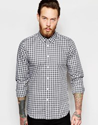Ps Paul Smith Shirt In Tartan Check In Tailored Slim Fit Blue