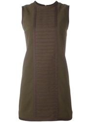 Dsquared2 'Military' Rib Detail Dress Green