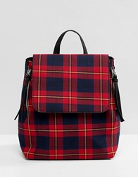 Stradivarius Tartan Check Back Pack Multi