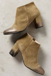 Anthropologie Lenora Mia Suede Booties Green