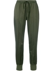 Andrea Ya'aqov Tapered Drawstring Trousers Green