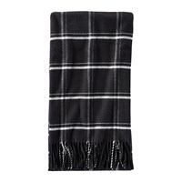 Pendleton 5Th Avenue Throw Black Windowpane