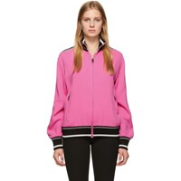 Dolce And Gabbana Pink Cady Zip Track Jacket