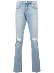 Adaptation Slash Knee Slim Fit Jeans Blue