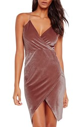 Missguided Women's Velvet Wrap Dress