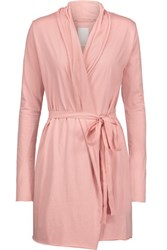 Skin Pima Cotton Jersey Robe Antique Rose