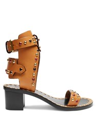 Isabel Marant Jaeryn Block Heel Sandals Tan Multi