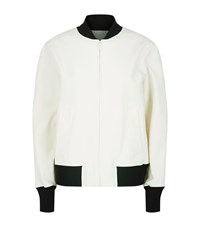 Dkny Monochrome Bomber Jacket Female White