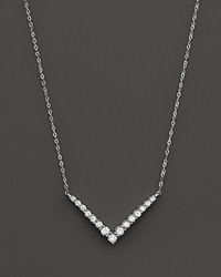 Bloomingdale's Diamond Geometric Pendant Necklace In 14K White Gold .30 Ct. T.W.