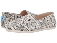 Toms Classics Natural Black Forest Tribal Women's Slip On Shoes Beige