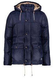 Abercrombie And Fitch Core Down Jacket Navy Blue