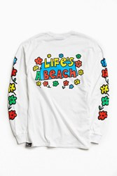 Life's A Beach Flower Long Sleeve Tee White