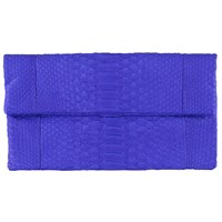 Vasilisa Classic Snakeskin Clutch Royal Blue