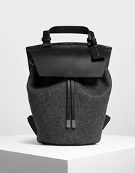 Charles And Keith Classic Drawstring Backpack Black