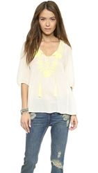 D.Ra Rosie Top Neon Yellow