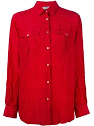 Forte Forte Crinkled Shirt Red