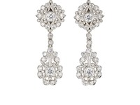 Mcteigue And Mcclelland Women's Flora Belle Epoque Double Drop Earrings Silver