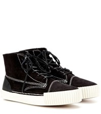 Alexander Wang Perry Suede High Top Sneakers Black
