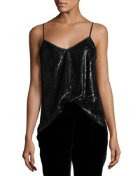 Joie Gowa Sequined Cami Top Caviar