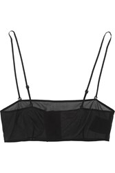 Saint Laurent Stretch Silk Georgette Bandeau Bra Black