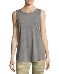 Current Elliott The Cross Back Muscle Tee Gray