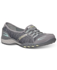 Skechers Women's Relaxed Fit Breathe Easy Good Life Memory Foam Casual Sneakers From Finish Line Gray