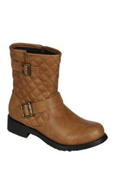 Refresh Jab Quilted Boot Brown