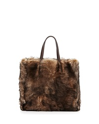 Ralph Lauren Easy Small Lamb Shearling Tote Bag