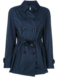 Herno Belted Water Resistant Trench Blue