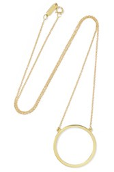 Jennifer Meyer Open Circle 18 Karat Gold Necklace One Size