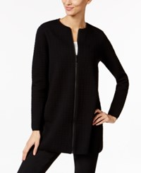 Alfani Petite Textured Swing Jacket Only At Macy's Deep Black