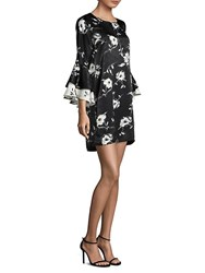 Delfi Collective Alana Statement Sleeve Floral Dress Black Floral
