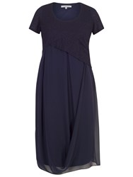 Chesca Bubble Bodice Chiffon Dress Dark Navy