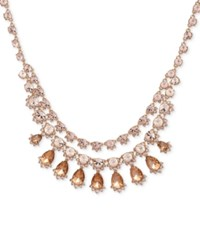 Givenchy Rose Gold Tone Pink Stone Statement Necklace