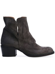Fiorentini Baker Tais Tempest Boots Women Leather Suede Rubber 37 Grey