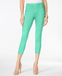 Styleandco. Style And Co. Pull On Twill Capri Leggings Only At Macy's Pacific Aqua