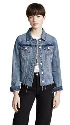 Blank Denim Zip Detail Denim Jacket Sliding Doors