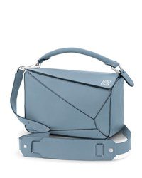 Loewe Calfskin Puzzle Satchel Mini Bag Light Blue