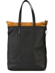 Agnona Panelled Shopper Tote Black