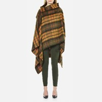 Vivienne Westwood Anglomania Women's Gaia Mohair Cape Yellow One Size