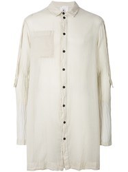 Lost And Found Rooms Chest Pocket Fitted Shirt Nude And Neutrals