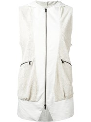 Lost And Found Ria Dunn Perforated Sleeveless Jacket White