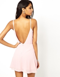 True Decadence Cami Skater Dress With Low Back Pink