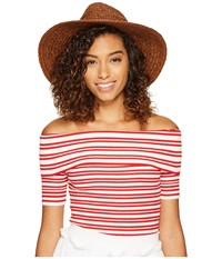 Bishop Young Elizabeth Off The Shoulder Red White Stripe Women's Sweater