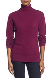 Women's Nordstrom Collection Cashmere Turtleneck Sweater Purple Dark