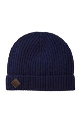 Cole Haan Wool And Cashmere Blend Beanie Blue
