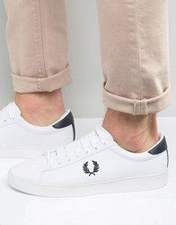 Fred Perry Spencer Canvas Trainers White