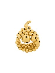 Paula Mendoza Adriane Triple Ring Gold Plated Brass Metallic