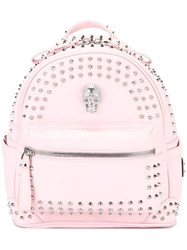 Philipp Plein Going On Backpack Pink Purple