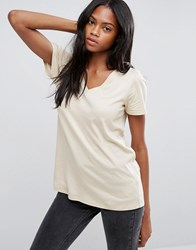 Asos The Ultimate V Neck Slouchy T Shirt Stone